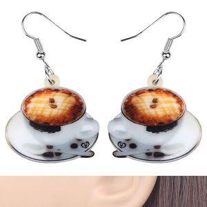 Coffee Cup Acrylic Earrings